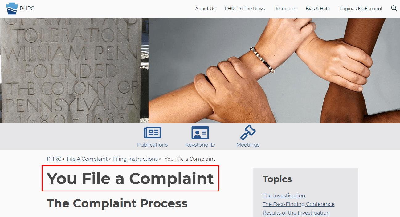 How to file an employment complaint with the PHRA
