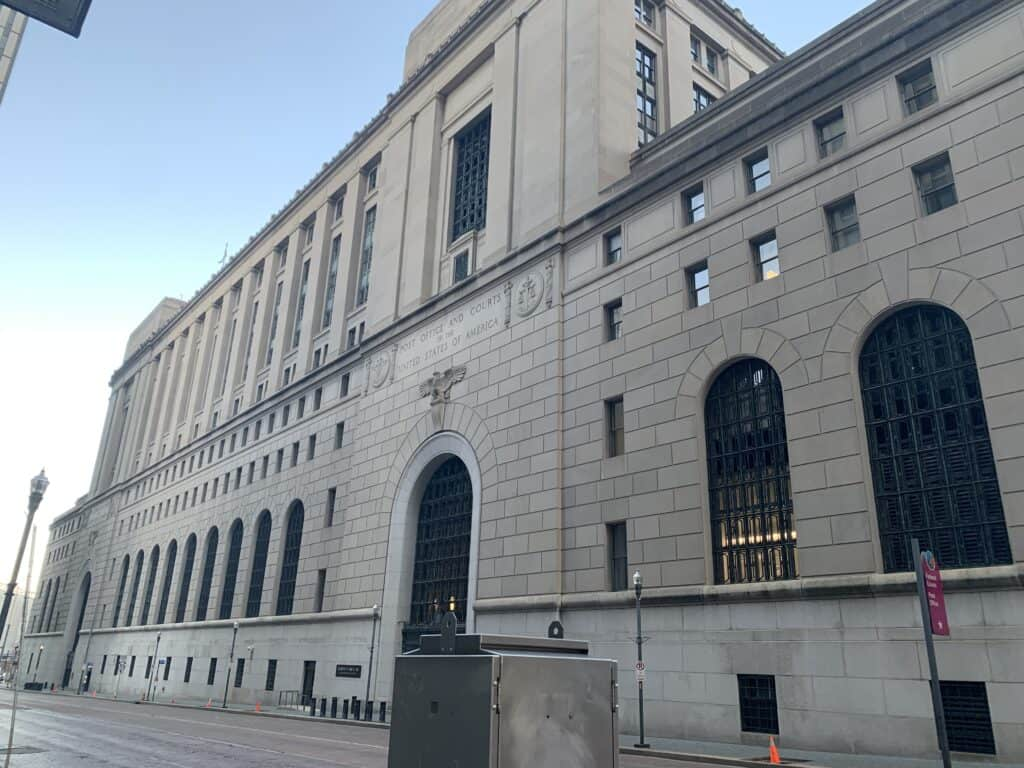 Federal courthouse where employment lawsuits are heard