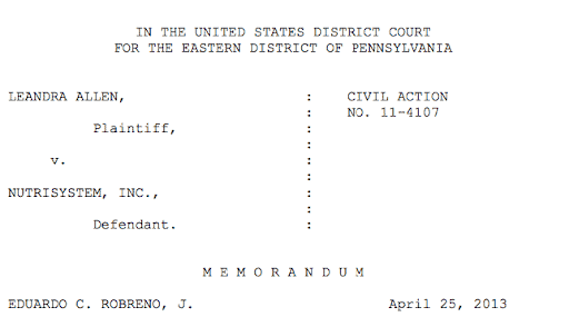 Case caption for FMLA interference case. FMLA PA