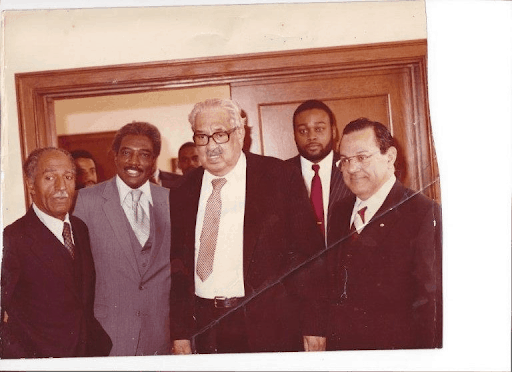 Civil Rights Attorney Justice Thurgood Marshall wins Brown v. Board of Education.