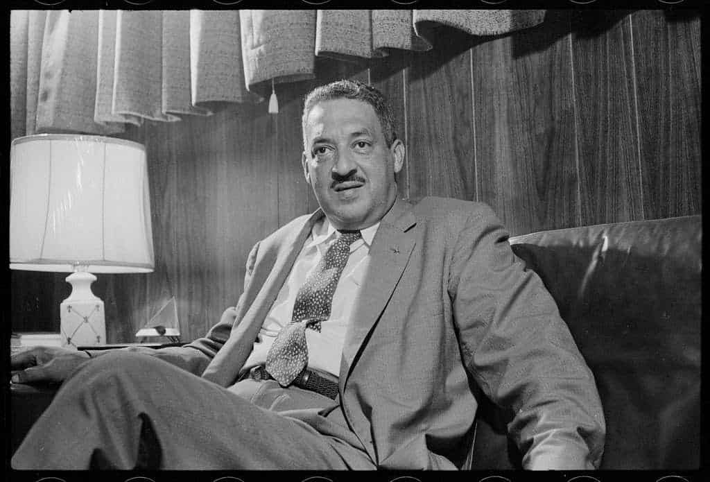Photograph of Justice Thurgood Marshall. Information from civil rights attorney